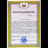 <p> Благодарность от Пуховичского психоневрологического дома-интерната</p>